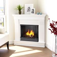 amazon com chateau corner gel fireplace in white home u0026 kitchen