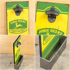 john deere equipment wood bottle opener cap catcher bar bizrate store ratings summary