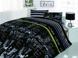 Amazon Duvet Sets Amazon Com 100 Cotton 4pcs New York Nights Double Size Duvet