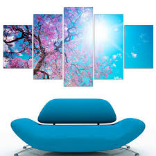online get cheap cherry wall aliexpress com alibaba group hot modular oil painting unframed cherry blossom tree a4 art poster hd canvas picture flowers wall sticker home decoration 5pcs