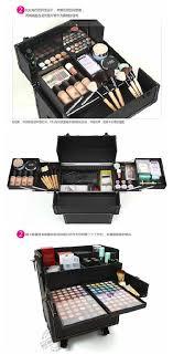 makeup artist box new 2in1 deluxe 38 cosmetic makeup artist rolling aluminum