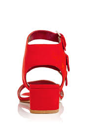 lyst laurence dacade klio red calf leather sandals in red