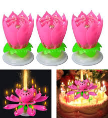 musical birthday candle the amazing birthday party decorations kids lotus cake