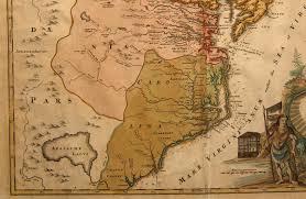 map of virginia and carolina circa 1714 map carolina detail