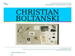 christian boltanski la chambre ovale le dossier pédagogique christian boltanski version