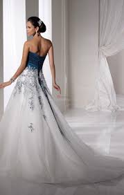 blue and white wedding dresses cocktail dresses 2016