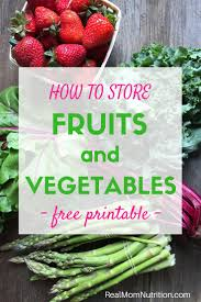 how to store fruits and vegetables free printable