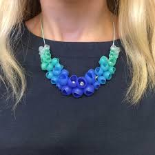 blue necklace images Small cluster necklace blue jenny llewellyn jpg