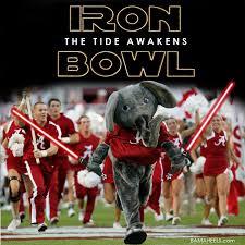 Iron Bowl Memes - the iron bowl the tide awakens bama heels