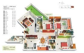 three bedroom flat floor plan big apartment room 3 bed 3 bath apartments pinterest 3d