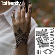 aliexpress com buy 2017 most popular black henna tattoos flash