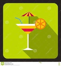 martini olive art martini glass of cocktail with umbrella icon stock vector image