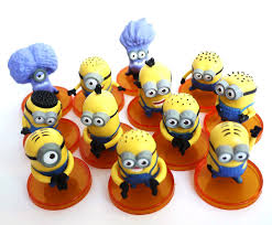 minions cake toppers 12 pcs despicable me minion character display figures kid cake