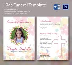 funeral booklet templates 5 kids funeral templates word psd format free