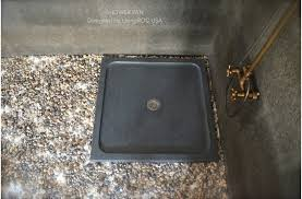 36 x36 square shower base genuine gray granite serena
