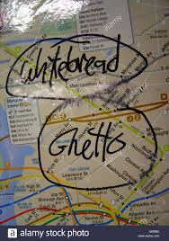 Map Subway Ny by New York City Subway Map With Whitebread Ghetto Graffiti Stock