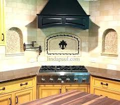 backsplash medallions kitchen kitchen backsplash metal medallions medallion rubbed bronze tile