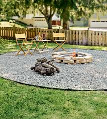Firepit Area Pits Ideas Create Fieldstone Diy Pea Gravel Around