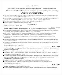 Technical Project Manager Resume Examples by 29 It Resume Samples Free U0026 Premium Templates