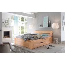 Schlafzimmer Mit Betten In Komforth E Salerno Bett Mit Schubladen Kernbuche Massiv Geölt Kaufen Möbel