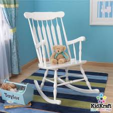 White Rocking Chair For Nursery Bed Bath White Wooden Rocking Chair With Stripe Area Rug For