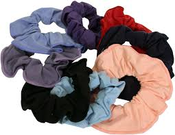 hair scrunchies dancewear of edinburgh scotland uk cotton hair scrunchies