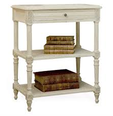 napoleon french country old creme caned nightstand side table