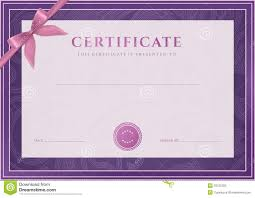 certificate diploma template award pattern stock photo image