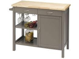 desserte de cuisine bois desserte en bois massif coloris gris vente de meuble micro