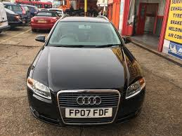 2007 audi a4 2 0 se tdi 170 bhp estate black 6 speed manual hpi