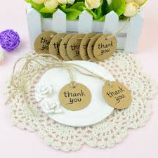 tags for wedding favors dxhycc 100pcs thank you wedding brown kraft paper tag