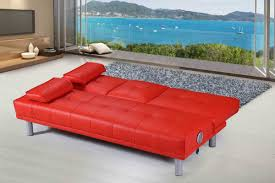 manhattan bluetooth speakers modern sofa bed red faux leather