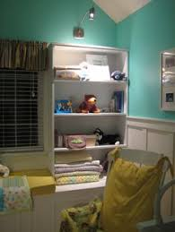nursery painted the same color as the teal guest room behr
