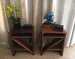 rustic nightstand etsy