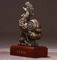 lucky rooster ornaments for home decoration copper desk ornament