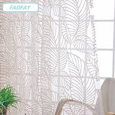 Leaf Design Curtains Buy Fadfay Modern Country Style Leaf Pattern Design Tulle Window