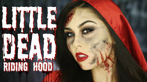 Little Red Riding Hood Makeup For Halloween by Little Dead Riding Hood Makeup Tutorial Roxette Arisa Youtube