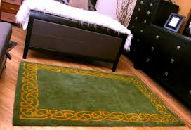 Celtic Area Rugs Green Wool Area Rug With Gold Border Designed In Ireland