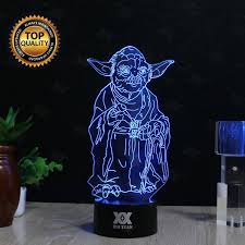 3d Lamps Amazon Huiyuan Desk Lamp 3d Star Wars 7 Colors Change Touch Switch Table