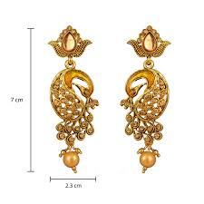 stylish gold earrings buy south indian stylish gold plated necklace earrings