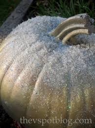 Glitter Spray For Christmas Decorations by The Last Pumpkin Of The Year Make A Frosty Pumpkin For Your