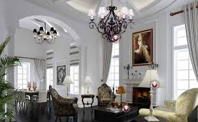 European Interior Design European Style Villa Living Room And Dining Room Interior Design