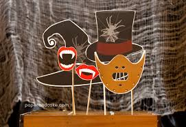 halloween paper products horror halloween printable photo booth props paper and cake