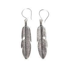 feather earrings nz tribal power silver earrings silk steel luxury statement