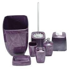 Bathroom Accessories Sets Plum Bathroom Accessories Set Sets Purple Swirl Dark U2013 Elpro Me
