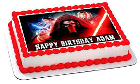 wars edible image wars 7 awakens 3 edible cake topper cupcake toppers