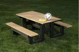 recycled plastic picnic tables 6 ft rectangular hdpe recycled plastic picnic table portable by