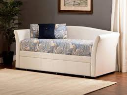 sophisticated white wood daybed with pop up trundle architecture