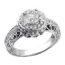 buy rings cheap images 1 59 cts round cut halo diamond vintage engagement ring cheap jpg