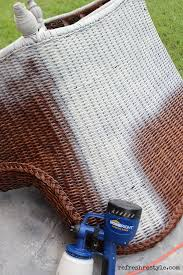 how to spray paint wicker spray paint wicker paint wicker and